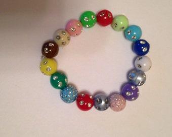 Girls' multi colored beaded bracelet.