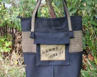Shopper, tote bag, bag: HANDS OFF!