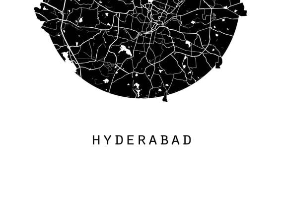 Hyderabad map world map india map maps black and white te gusta este artculo gumiabroncs Choice Image