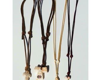 Set of 4 x Christian Religious Necklace / Handmade Stone Cross Pendant / Gift / Blessed / Praying
