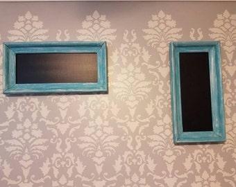 Pair of Wooden Framed Chalkboards