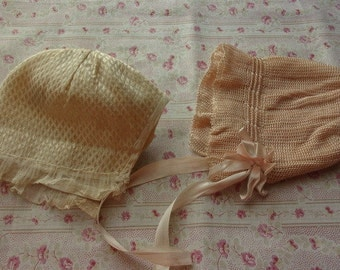 2 vintage baby doll hats