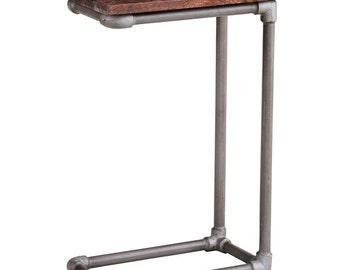 Santara sofa/side/bedside table - Handmade - Walnut stain wood + Iron