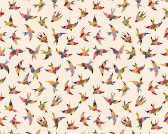 Kaleidoscope Bird fabric