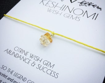 Wish bracelet, gift for coworker, New job gift, graduation gift, citrine bracelet, graduation gift for best friend, crystals for success