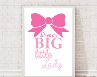 Dream Big Little One Quote A4 Art Print / Giclee Print / Gallery Wall Art / Nursery / Childrens / New baby