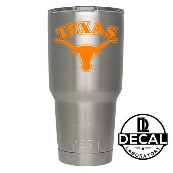 Yeti Decal Sticker - Texas Longhorns Decal Sticker For Yeti RTIC Rambler Tumbler Coldster Beer Mug