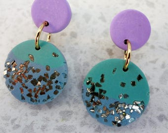 Girls Star Dust Glitter Earrings / Clip-on Earrings / Stud Earrings / kids earrings / Girls Earrings