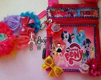 Cute My little pony headband and purse