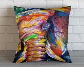 Abstract Elephant Pillow