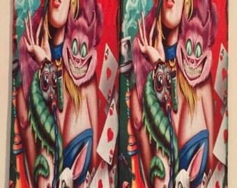 Custom Alice-N-Wonderland Sublimation Socks