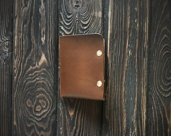 Men's Leather wallet, Men's Wallet, Leather Wallet, Minimal Leather Wallet, thin leather wallet