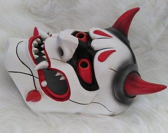 Genji Skin Oni Mask OW Mask for Cosplay