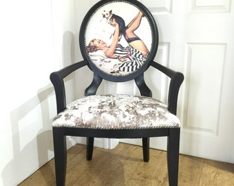 Glamour girl decorative chair