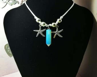 Necklaces handmade with natural minerals