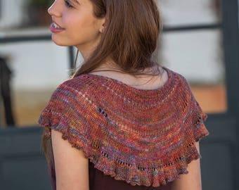 Faralaes Flamenco Shawl Knitting Pattern