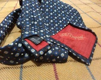 Vintage St Dupont Silk Necktie St Dupont Silk Tie Made in Italy