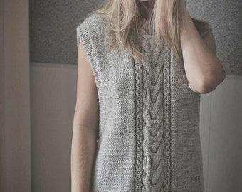 knitted waistcoat for women