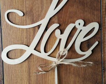 Wooden Cake Toppers / Wedding Toppers / Wedding Decor