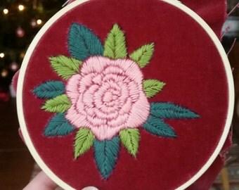 Mini embroidery in the framework