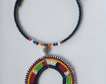 Seed beads choker