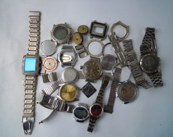 Watches broken, watch parts. Watchs for parts. Vintage.