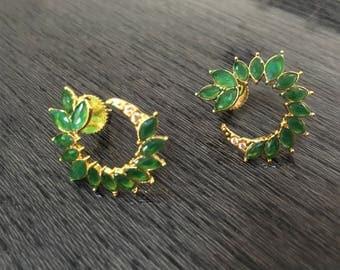 American diamond earrings, indian earrings, zircon earrings, bollywood earrings, bridal earrings, gift for her