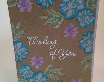 Thinking of You Card, Just Because Card, Handmade Card