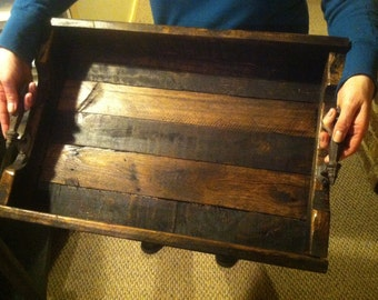 14x24 Serving Tray Repurposed Pallet Wood