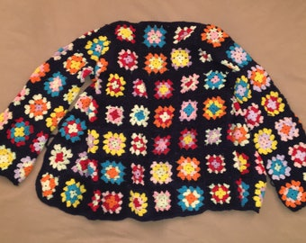 Wool Sweater with Granny squares