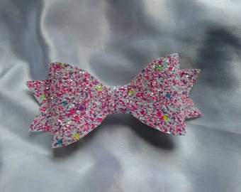 Cotton Candy glitter bow
