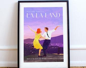 La La Land Classic style film poster