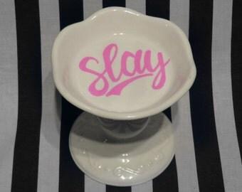 """FREE SHIPPING - Cheeky China, """"Slay"""" Tray"""