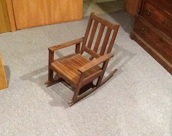 Antique Kid's Rocking Chair