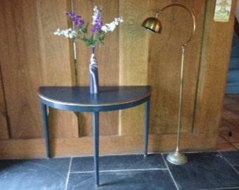 Decorative Half Moon Table c1920