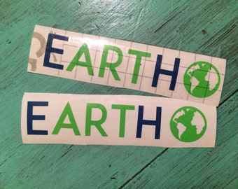 Earth- Art - Vinyl Decal - Can't Spell Earth Without Art