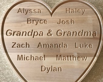 Personalized wood-carved name art.  Please contact me for pricing on alternative designs.  The sky is the limit.