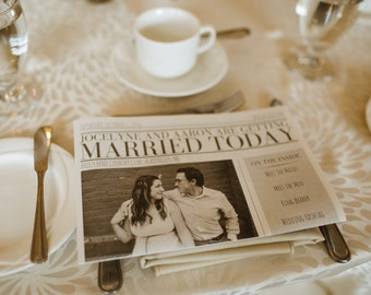 Wedding Newspaper Program - Digital Design Copy