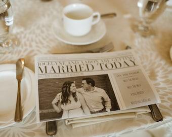 Wedding Newspaper Program - Digital Copy