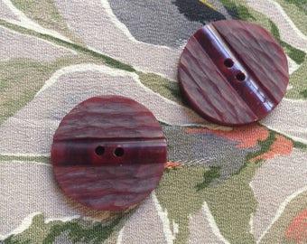 2 art deco buttons c1940s
