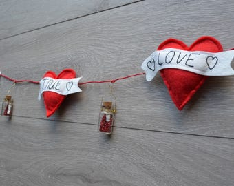CLEARANCE SALE:Hearts and Love Bunting