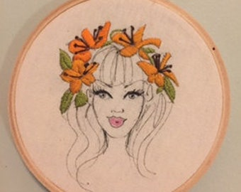 Lottie Embroidery Hoop