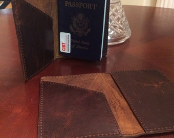 Bison Leather Passport Cover