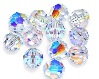 Swarovski Crystal Round Crystal AB Beads 5000- Available in 4mm, 6mm, 10mm