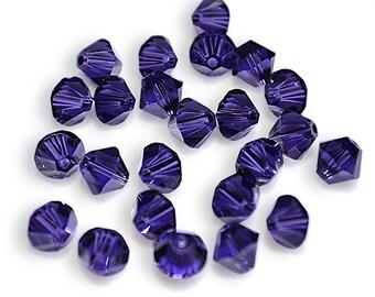 Swarovski Crystal Bicone 6mm Purple Velvet Beads 5301/5328 (Package of 24 Beads)