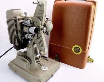 Vintage REVERE Model 85 8mm Movie Projector w/ Reel and Case 1940s Made in USA