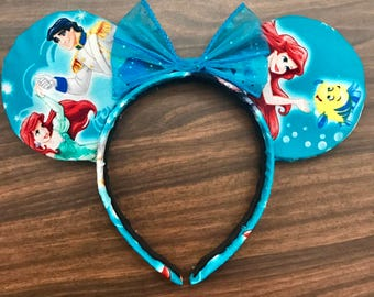 Ariel Turquoise Disney Mickey Ears