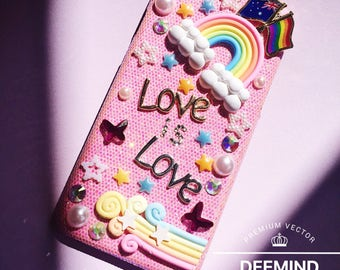 Handmade LGBT custom phone case, love is love, equal love, gay,lesbian, rainbow, Mardi Gras, AUSTRALIAN, for iPhone6/6s/7/6PLUS/6sPLUS/7PLUS