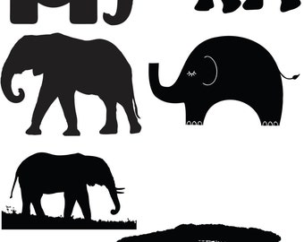 Elephant cute ones big ones funny ones File Download SVG EPS PNG art clipart