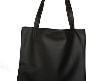 Tote bag faux leather black
